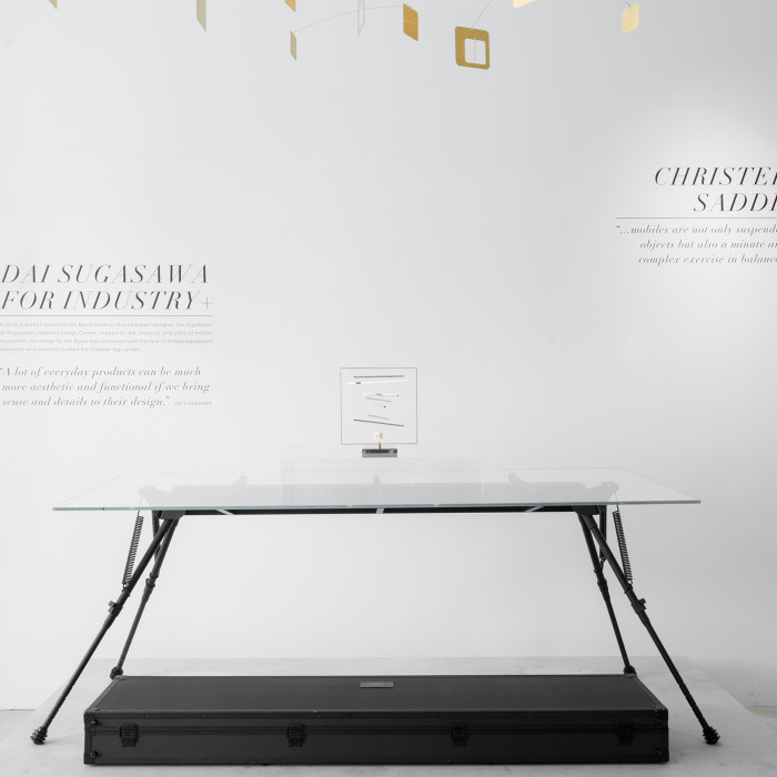 MIAIA GALLERY_DESIGNERS - Dai Sugasawa for Industry Plus (Bipod table) and Christel Sadde (mobiles)_PHOTO CREDIT - Marc Tan Photography_small
