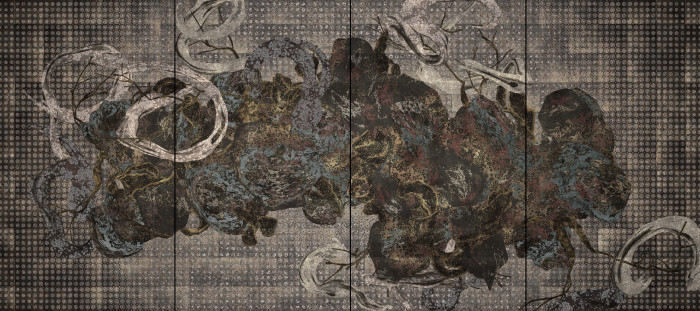 Impermanent Life, 2017, Digital Work, 4 channels, 10 min (loop), 121 x 274 x 15 cm, Edition of 8, ⒸteamLab
